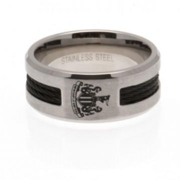 Newcastle United Ring with Black Inlay - Medium